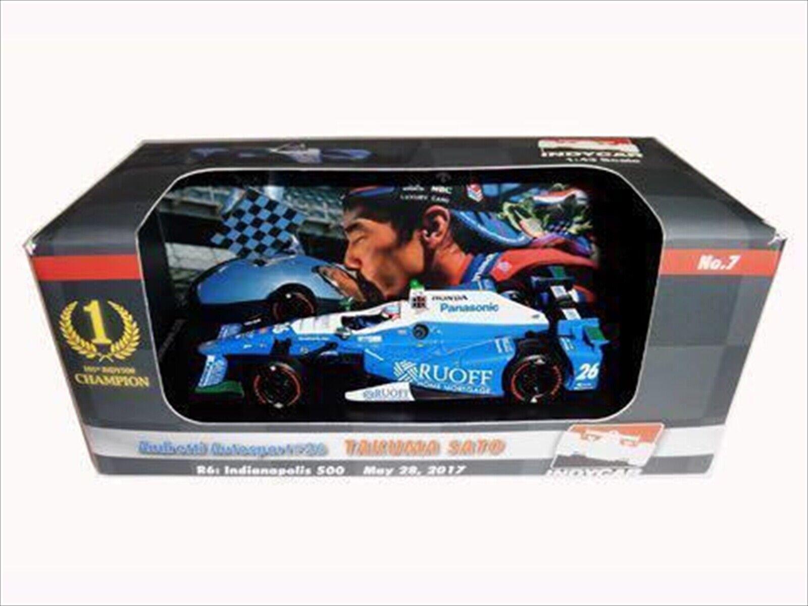 vertlight Indycar 1 43 Andretti Autosport Takuma Sato 2017 INDY 500 WINNER New