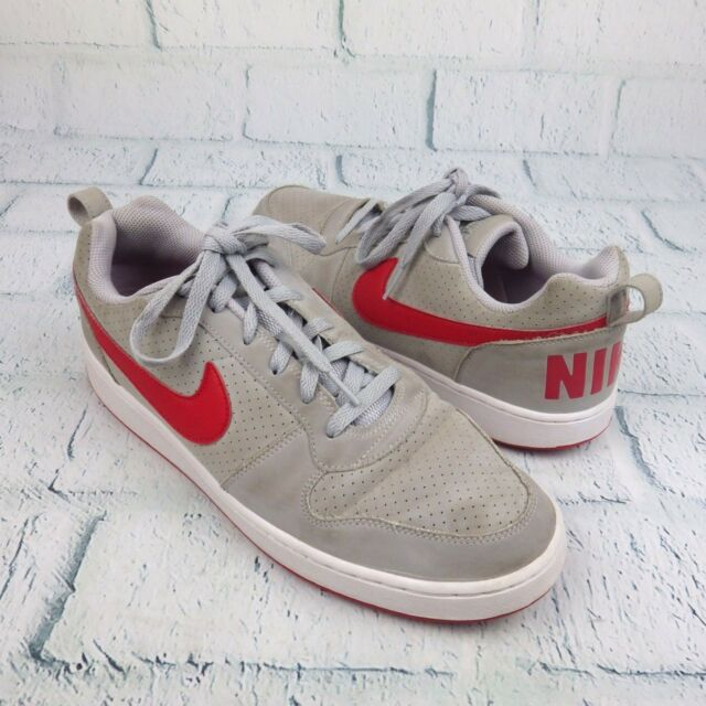 633b7a3bdf7 Mens Nike Court Borough Gray Low Basketball Casual Shoes Size 11 838937-002