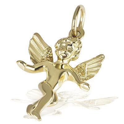 Goldmaid Anhänger 375er Gelbgold Gold Echtschmuck Engel Angel Taufe Kommunion