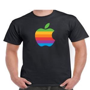 Apple-T-Shirt-Logo-Mac-Men-039-s-And-Youth-Sizes-Ring-Spun-Cotton-Soft-TEE