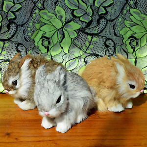 3-Realistic-Lifelike-Rabbits-Fur-Furry-Animal-Figurine-Easter-Bunnies-Photo-Prop
