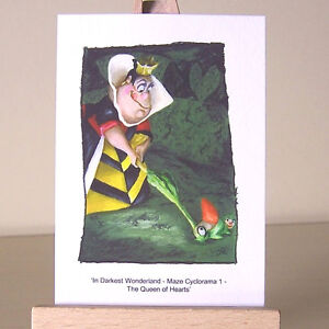 Queen-of-Hearts-Alice-in-Wonderland-Let-the-Game-Begin-croquet-ACEO-Art-Card