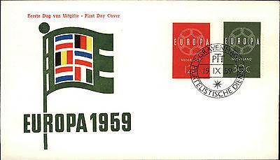 Ersttagsbrief Eerste Dag Uitgifte Europa Briefmarken 1959 Stempel Gravenhage Delikatessen Von Allen Geliebt Europa