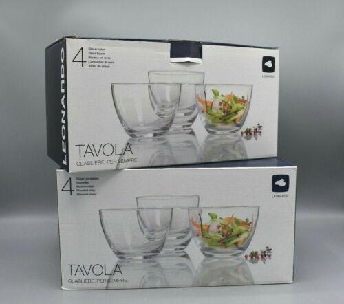 Leonardo Tavola Glasschalen klar 8 Stk. 12,5cm Durchmesser