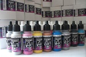 Peinture à l'acrylique Airbrush de Vallejo Game Air, ensemble de 51 bouteilles de 17 ml et étui de transport