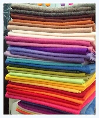 WALDORF STEINER X 12 PIECES  DYED 100% WOOL FELT GORGEOUS COLOURS
