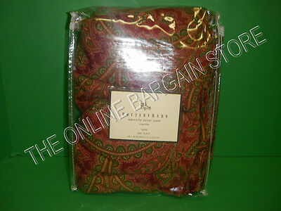 Pottery Barn Marcelle Paisley Floral Linen Bed Bedroom