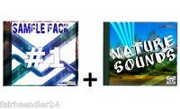 CD-VERSAND SAMPLE PACK 1 + NATURE SOUNDS Samples Musik DJ WOW E-LIZENZ AUDIO CDs