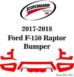 3M Scotchgard Paint Protection Film Clear Pre-Cut 2017 2018 Ford F-150 Raptor