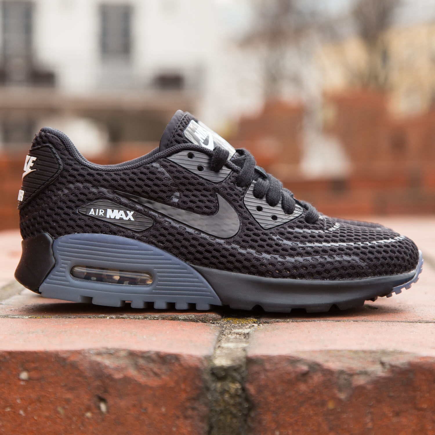 Nike Air Max 90 Ultra BR.. Black  Grey.. Women 8 or Men 6.5.. Ships Fast