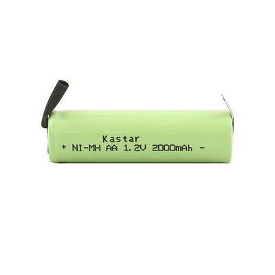 1 x Kastar Shaver NiMh Battery AA 1.2V 2000mAh Fit Braun Norelco Remington
