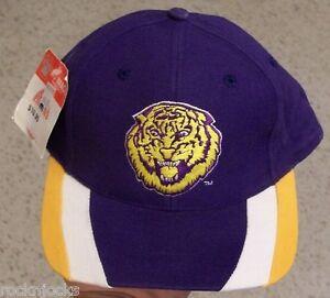 buy online 18a2a 6d666 Image is loading LSU-Tigers-hat-VINTAGE-Snapback-90-039-s-w-