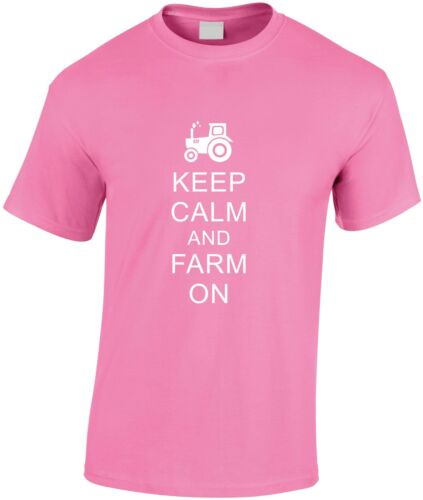 Keep Calm And Farm On Children/'s T-Shirt Young Farmer Tee Gift Farming Teen Top