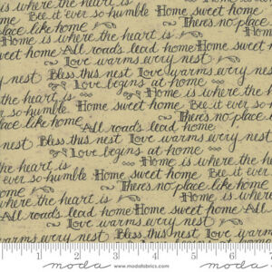 Moda-Quilt-Fabric-Home-Script-by-Kathy-Schmitz-color-Oat-by-half-yard-7011-14