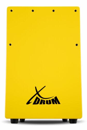 XDrum Kinder Cajon Trommelkiste Percussion Rhythmus Trommel Snare Effekt gelb