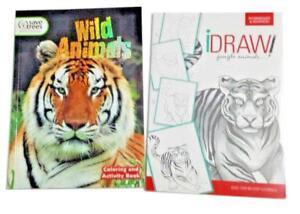 Libro Para Colorear Animales Salvajes Selva Tiger Snake Gorila