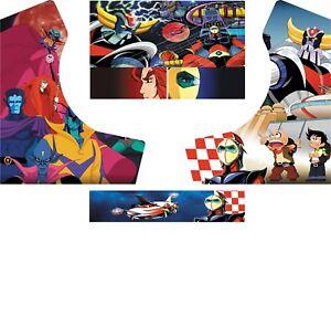 Stickers Bartop Goldorak Autocollant Borne D'arcade
