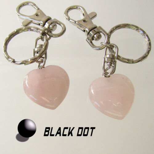 Corazón rosa cuarzo Edelstein clave remolque corazoncito aprox 25mm