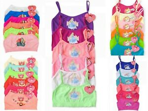 Girls 6 Pack Seamless Multi Pattern Racerback Bras and Boyshorts Tops S, Style A
