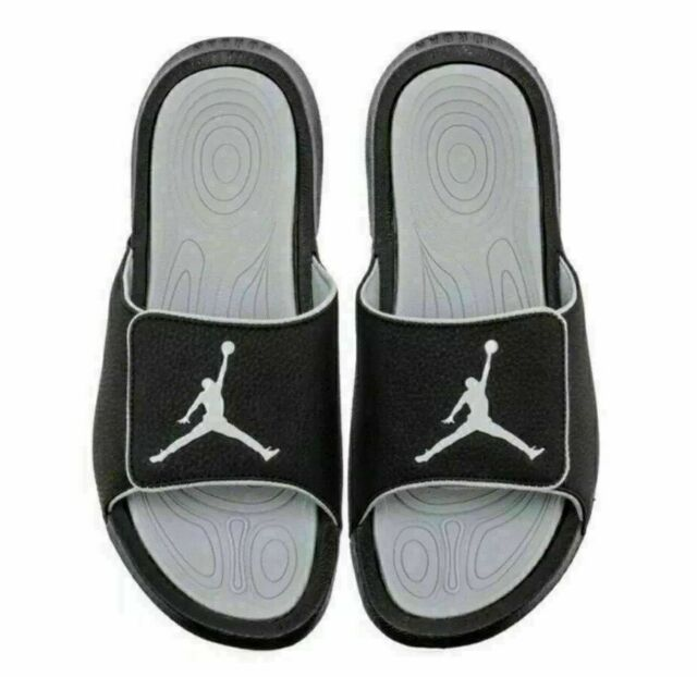Air Jordan Hydro 6 Sandals Slides Adjustable Closure Top Black 881473-011 Size 8