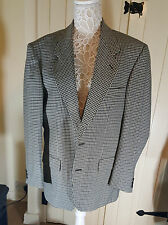"M&S Mans Mens Pure New Wool Check Jacket Mint 38"" Short Fully Lined twin Vent"