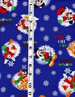 1 Yard Mickey Mouse & Friends Looks Like Snow Springs Creative Cotton Fabric