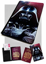 Passport Holder Darth Vader Stars Printed Faux Leather Cover Star Wars .