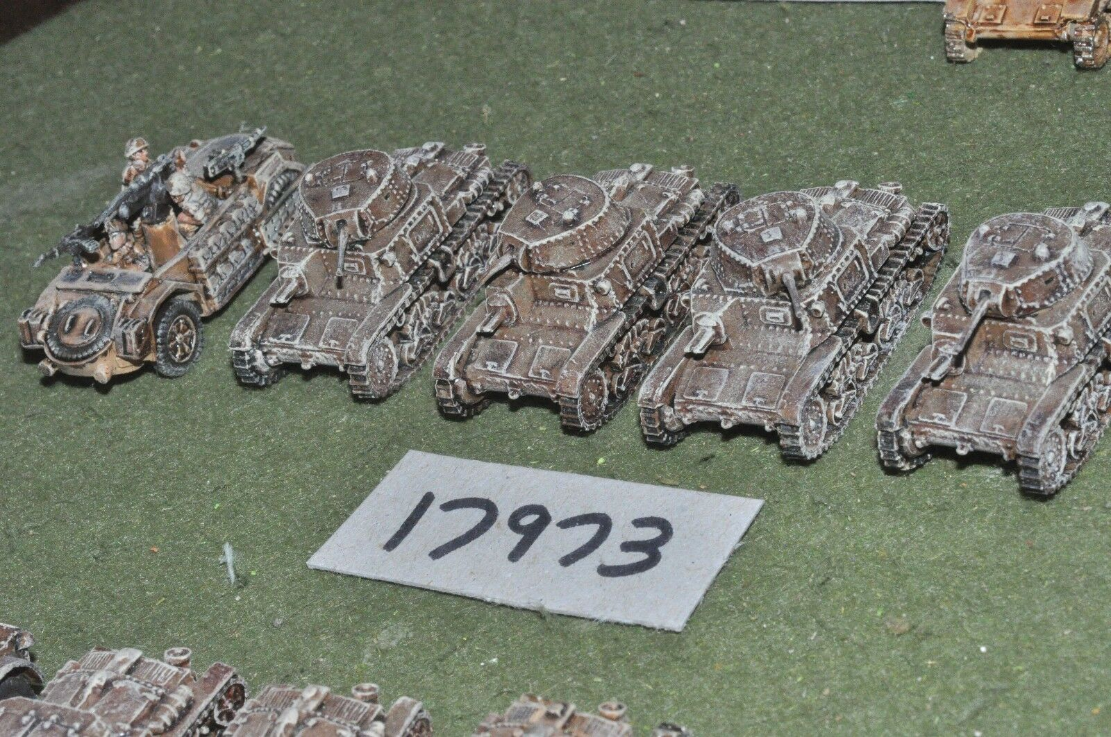 15mm ww2 n. african campaign vehicles (as photo) (17973)