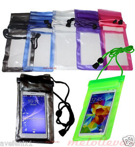 Funda-bolsa-impermeable-Acuatica-lluvia-Smartphone-Movil-Sumergible-15-x-9-cm