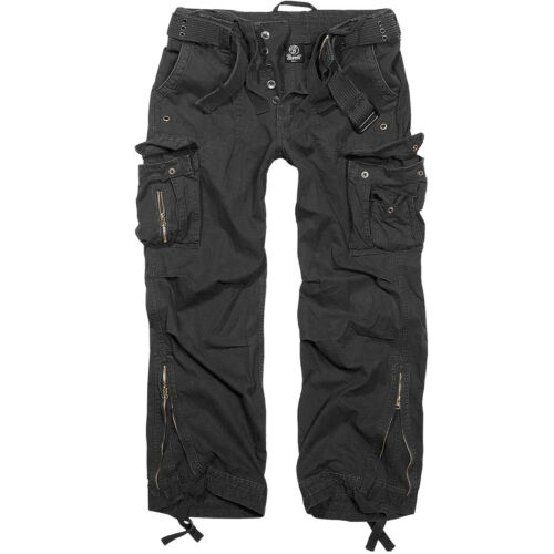 Brandit Royal Vintage Trousers Combat Mens Security Cotton Military Pants Black