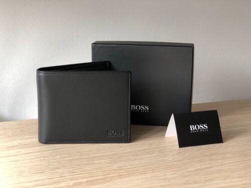 Hugo BOSS Men/'s Black Leather Wallet /'Asolo/' Style 50250331 Bi-fold