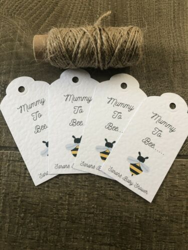 Pack Of 10 Mummy To Be Personalised Baby Shower Gift Tag