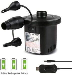Pompe-a-Air-Electrique-2-en-1-Rechargeable-Gonfleur-Degonfleur-Electrique-Pompe