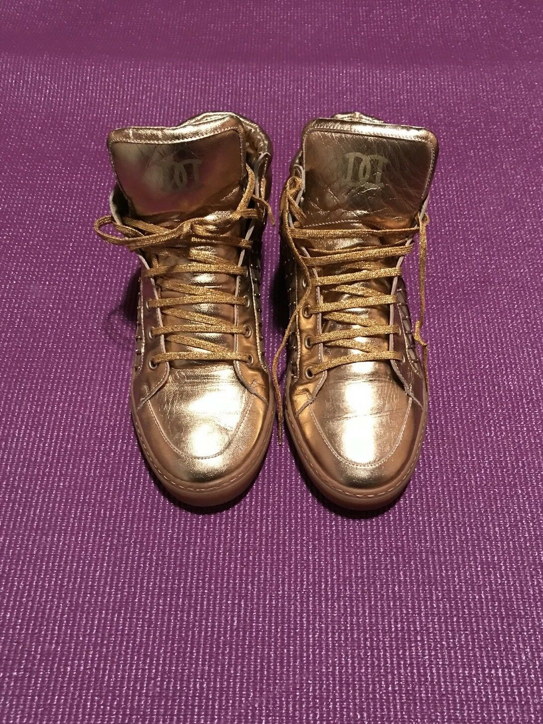 DSQUARED Womens gold Sneaker Size 8.5