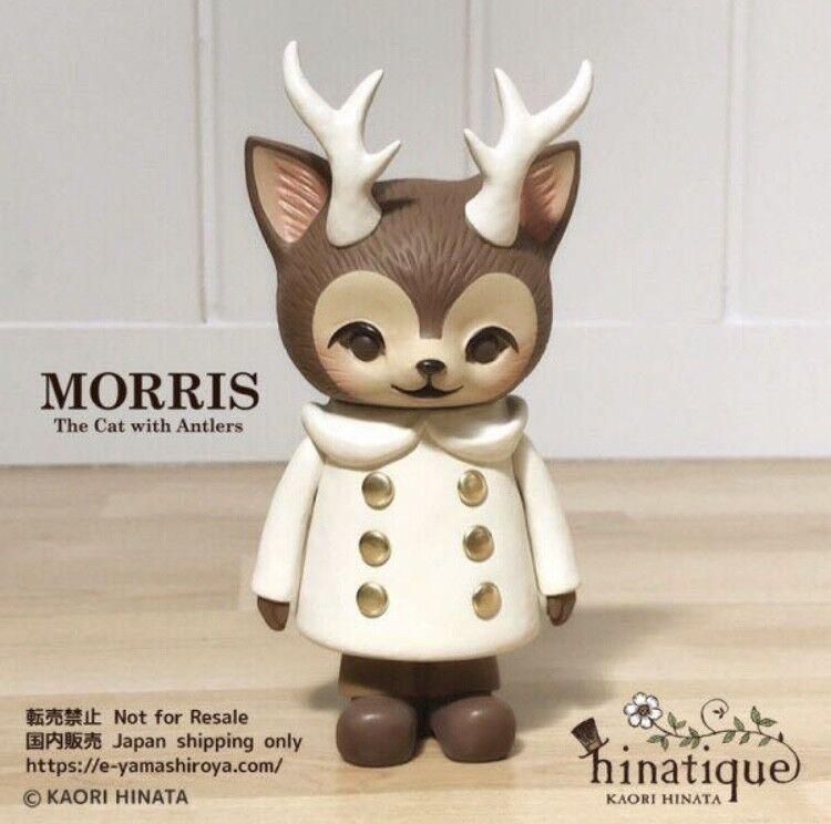 Kaori Hinata Hinatique MORRIS Cat Coat figure Antlers Weiß Farbe New