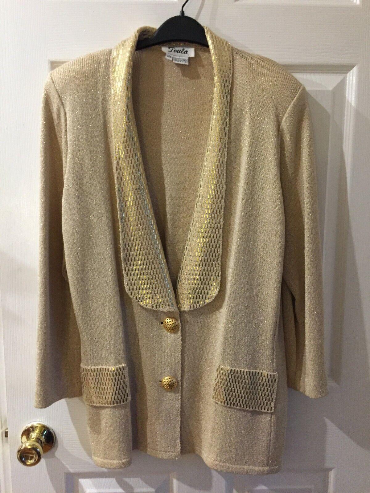 Toula Womens Dress Sweater Size 14