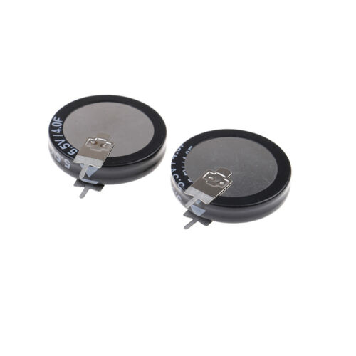 2Pcs 5.5 V 4.0F Super Capacitor H-Type Button Smart Capacitance component BEXIfa