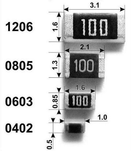 20 pezzi resistenza SMD 10 Ohm 1/% 10R resistenze SMD 1206 SMD Code 10R0