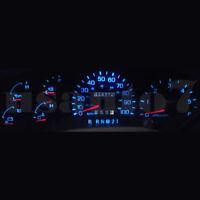 Dash Cluster Gauge Aqua Blue Led Light Kit Fit 97-98 Ford F150, F250, Expedition