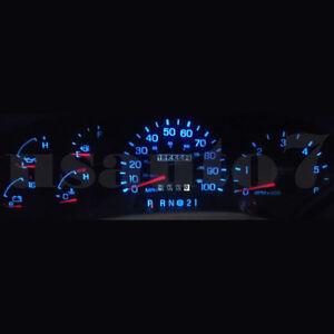 Details About Dash Cluster Gauge Aqua Blue Led Light Kit Fit 97 98 Ford F150 F250 Expedition