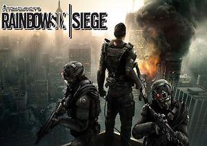 Tom Clancy/'s Rainbow Six Siege Video Game Poster Art Print 17x30inch 24x42inch