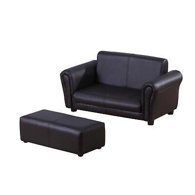 Homcom 2 Seater Kids Twin Sofa Childrens Double Seat Chair Furniture
