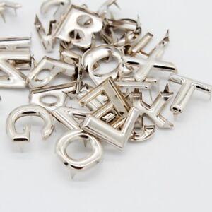 migliore online vendite all'ingrosso codice coupon 52pcs diy lettera metallo rivetti artiglio borchie per borse ...