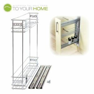 150mm Pull Out Wire Basket Kitchen Larder Base Unit Cupboard Drawer
