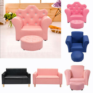 Terrific Details About Kids Sofa Set Childrens Baby Settee Toddlers 1 2 Seater Armchair Couch Leather Gmtry Best Dining Table And Chair Ideas Images Gmtryco