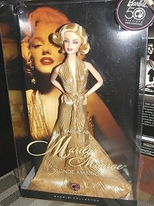 Barbie 50th Anniversary Pink Label Collection Barbie As Marilyn Monroe Blonde Ambition Mattel N4987