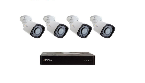 New Q-See QT878-4QT-1 8 Channel Starlight 1TB 1080p NVR Security System 4  Camera