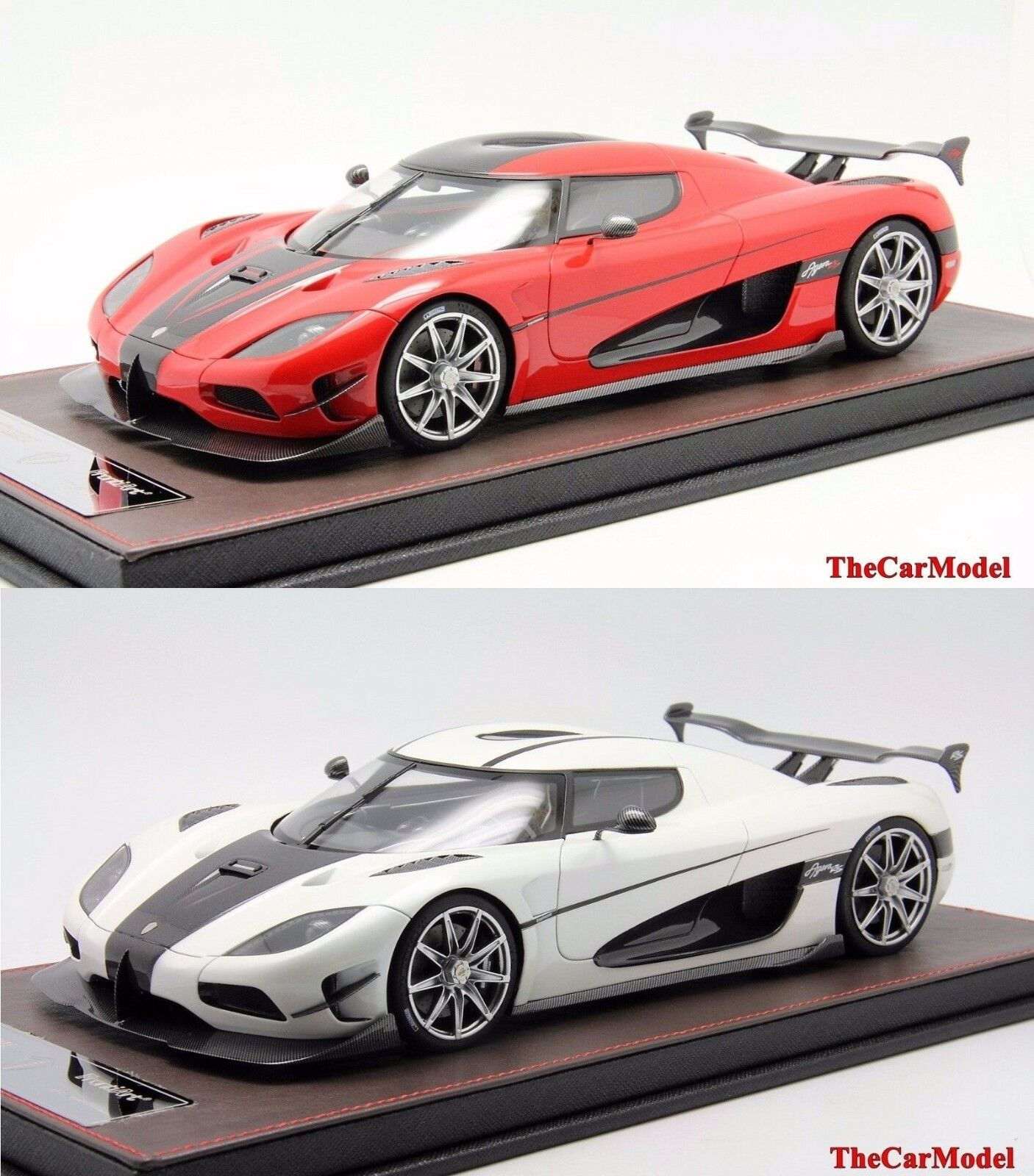 Koenigsegg Agera RS Pearl bianca, rosso Limited 200 pcs FrontiArt 1/18