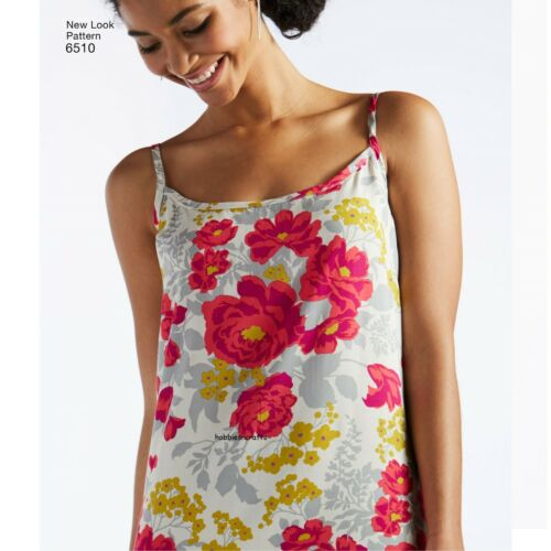 6510 MISSES/' SLIP DRESSES with variation NEW LOOK Sewing pattern Sizes 6-18