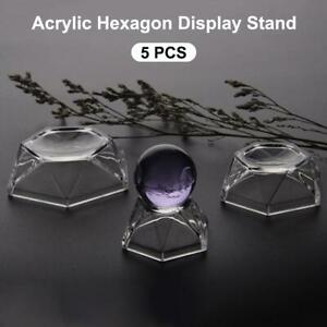 5-Pieces-Acrylic-Hexagon-Display-Stand-Holder-for-Balls-Marbles-Egg-Sphere